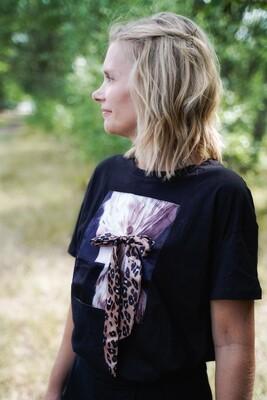 T-shirt met korte mouwen - SENNA - wit en zwart
