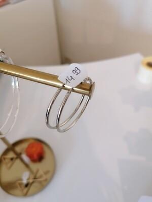 Hangoorbellen - middelgrote ringen zilver - NADIA