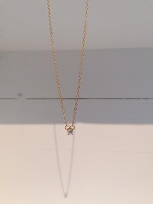 Halsketting - korte halsketting met diamantje - SOFIA