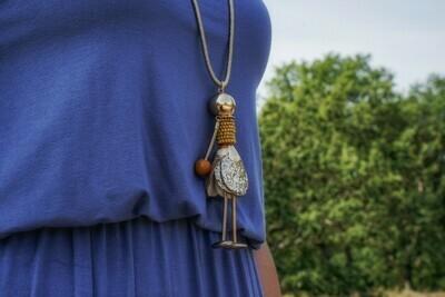 Lange dikkere halsketting - lichter popje - BELLE