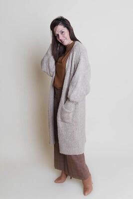 Knitwear - LARA - extra lang beige