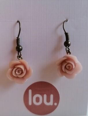 Hangoorbellen - roosjes - ROSALIE