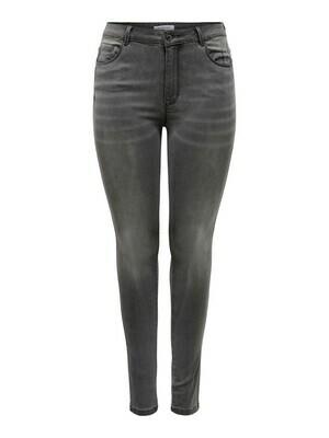 + Skinny jeans - AUGUSTA - donkergrijs - lengte 32''