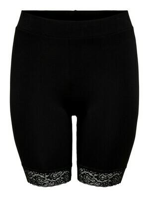 + underwear - TIME -  zwart met kanten boord