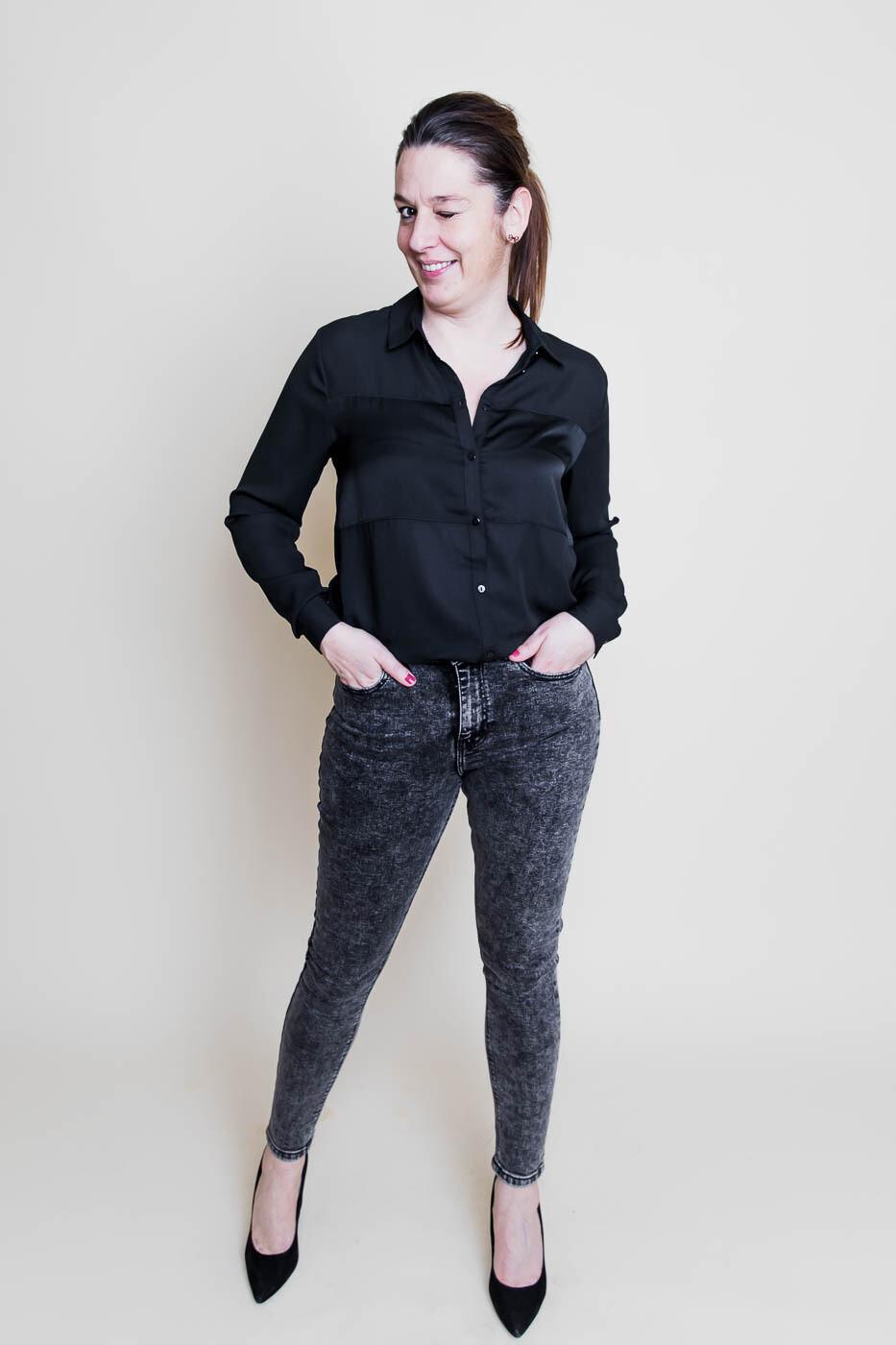 Skinny jeans - TYGA - donkergrijs snowed 32''
