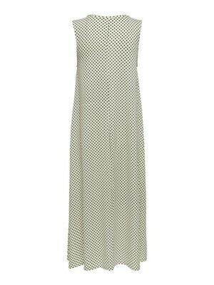 Midi jurk - FIONA - wit met zwarte stippen