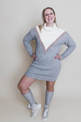 Korte jurk - ANOUK - grijs