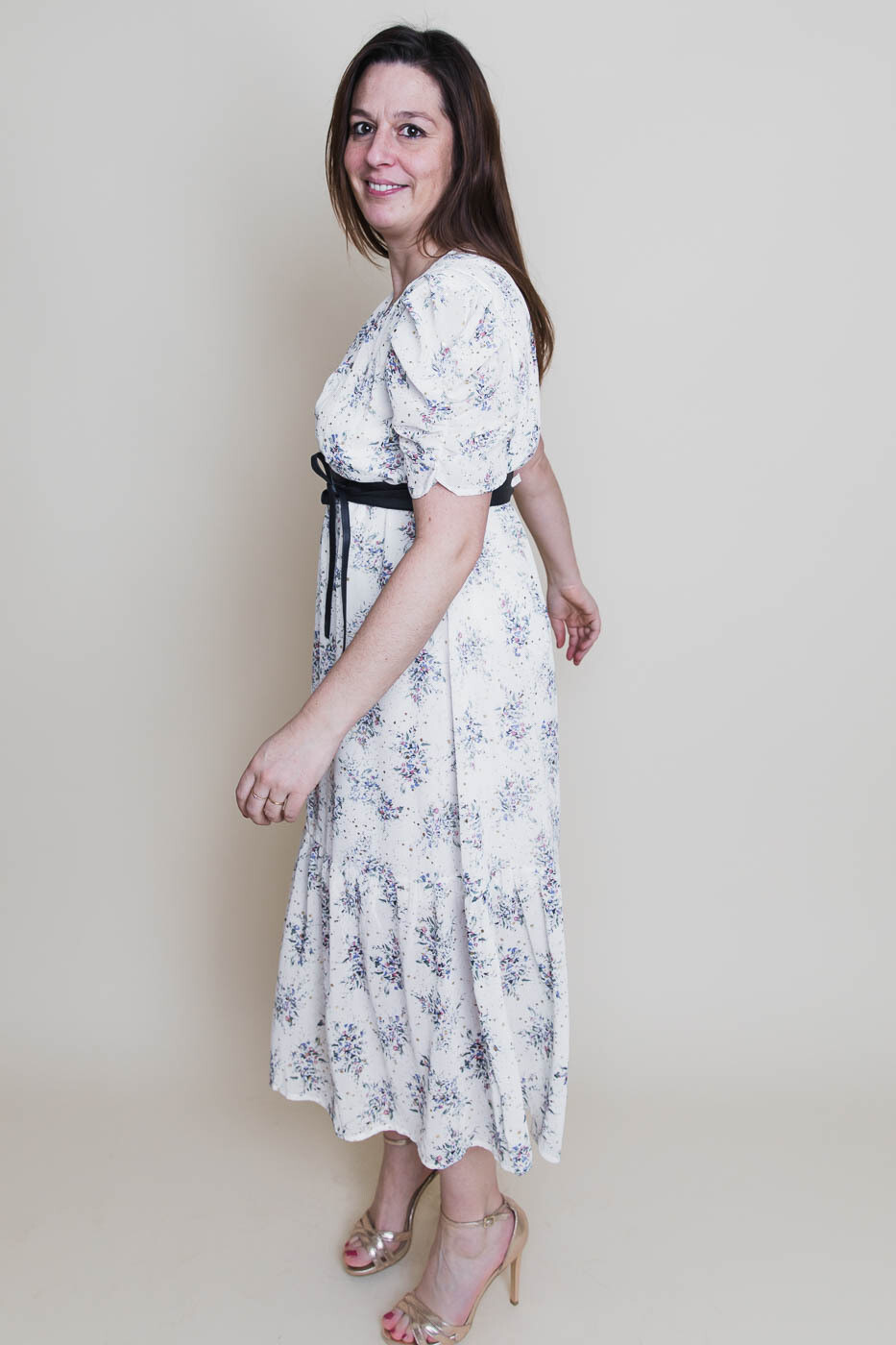 Midi jurk - HAILEY - wit