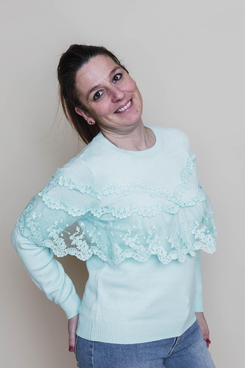 Knitwear - LOBKE - muntgroen