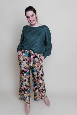 Knitwear - JINTE - appelblauwzeegroen