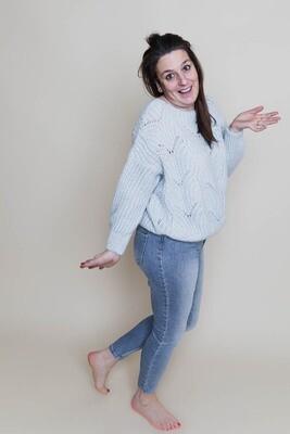Knitwear - STIEN - lichtblauw (met mohair)