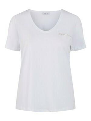 T-shirt korte mouwen  - wit met opschrift 'Super mum'