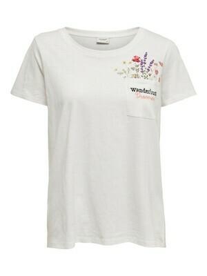 T-shirt - wanderlust bloemen