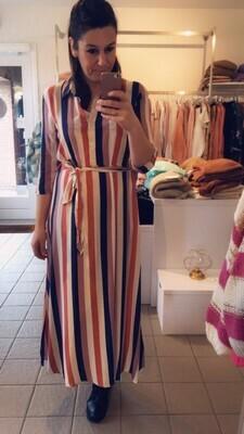 Maxi jurk - STARR - met verticale gekleurde strepen