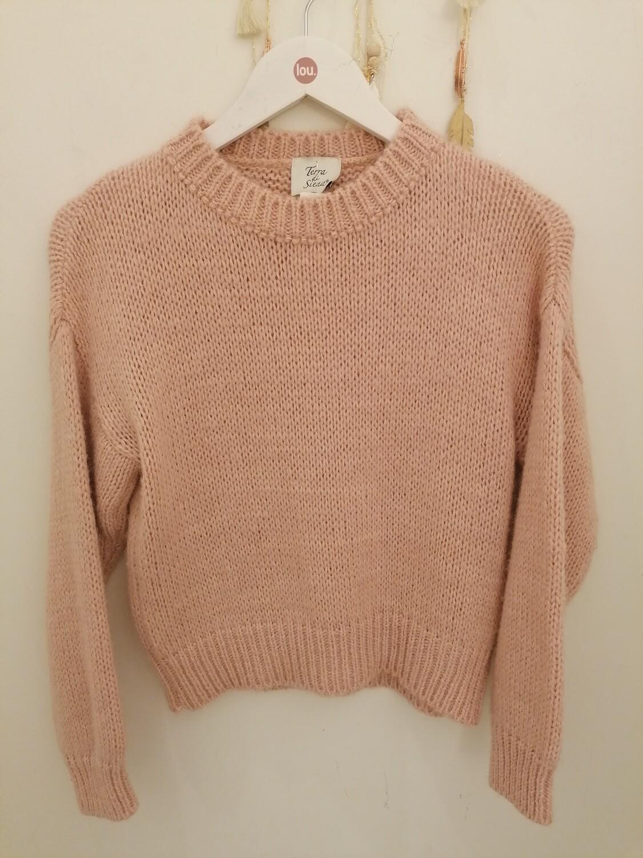Knitwear - LEILA - roze korte trui
