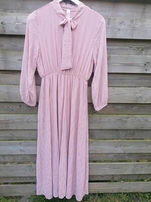 Maxi jurk - CHEYENNE - roze met gouden streepjes