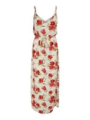 Maxi jurk - STARR - wit met vintage bloemen