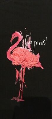 T-shirt met korte mouwen zwart - flamingo