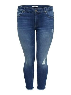 + Skinny jeans - WILLY - medium blue met destroyed effect (enkelbroek)
