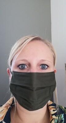 Mondmasker - LISA - kaki (ook voor mannen)