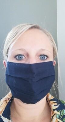 Mondmasker - LISA - donkerblauw (ook voor mannen)
