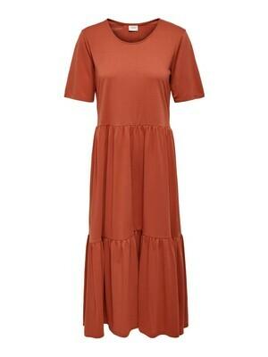 Midi jurk - DALILA - roestkleur