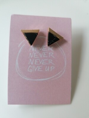 Oorbellen stekertjes - never never never give up