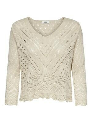 Trui - cropped pullover beige