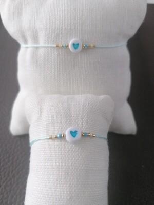Armband kinderen - twinning is winning - lichtblauw