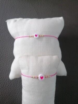 Armband kinderen - twinning is winning - roze
