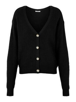 Knitwear - KARIE - korte vest in zwart