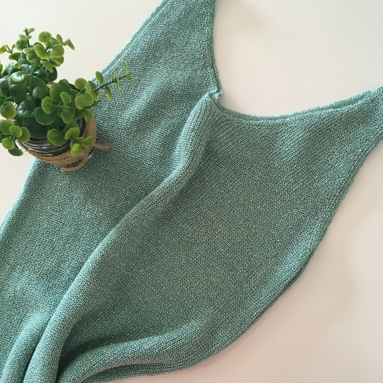 Tanktop - SIERRA - turquoise met lurex