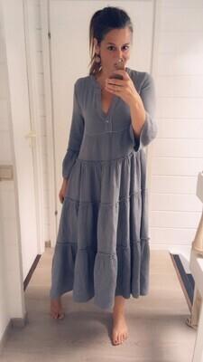Midi jurk - QUINTA - tetra grijsblauw