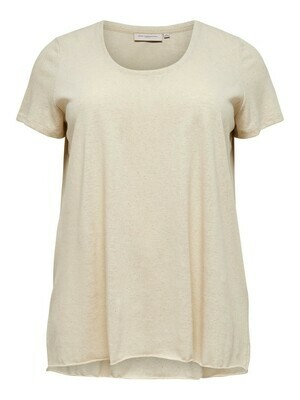 + t-shirt met korte mouwen - GLITTER LIFE - écru