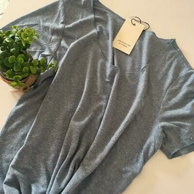 T-shirt met korte mouwen - LINETTE - gemêleerd middenblauw