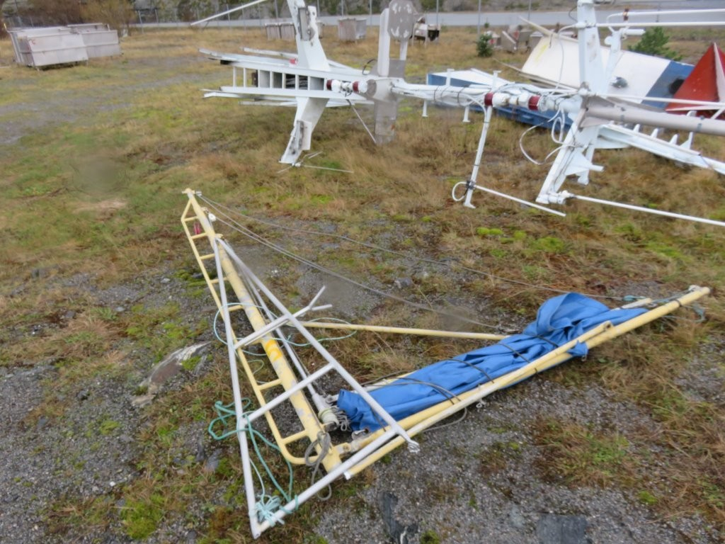 5. Master - Messan mast fra 35 foting  L=ca 3,8m