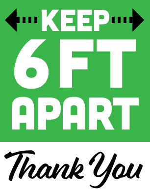 Keep 6ft Apart Sign