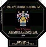 Ciacci Piccolomini d'Aragona 'Vigna di Pianrosso Santa Caterina d'Oro', Brunello di Montalcino Riserva 2012 (1.5 Liter)