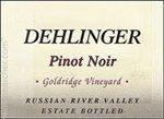 Dehlinger Goldridge Vineyard Pinot Noir, Russian River Valley 2016 (750 ml)