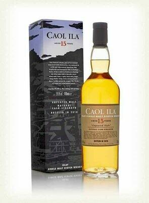 Caol Ila Unpeated Style Natural Cask Strength 15 Year Old Single Malt Scotch Whisky, Islay (750 ml)