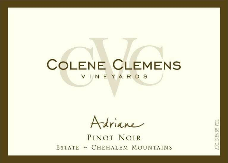 Colene Clemens Vineyards 'Adriane' Pinot Noir, Chehalem Mountains 2015 (750 ml)