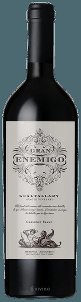 Bodega Aleanna 'Gran Enemigo' Gualtallary Single Vineyard Cabernet Franc, Tupungato 2015 (750 ml)