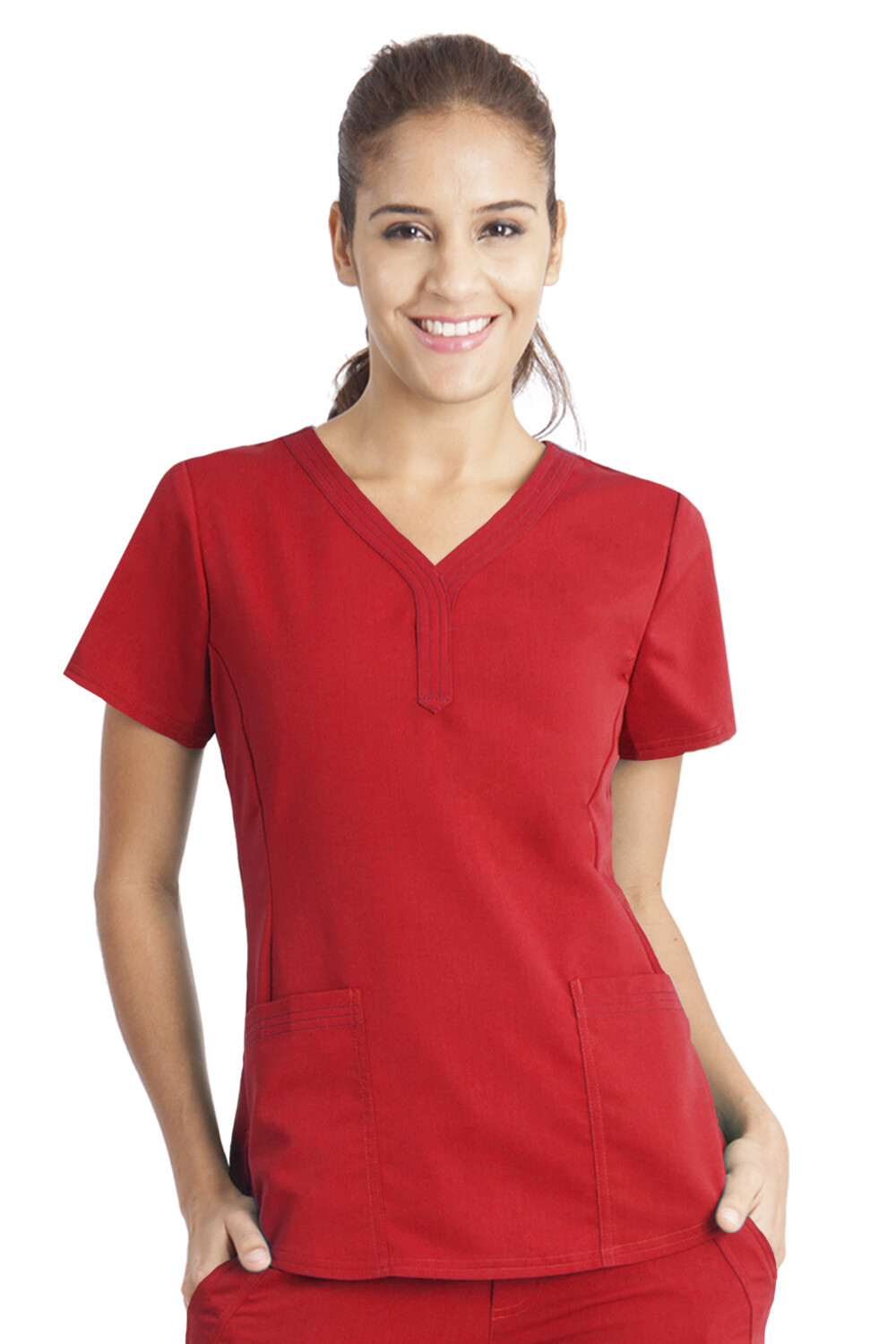2167 JANE TOP - RED LARGE
