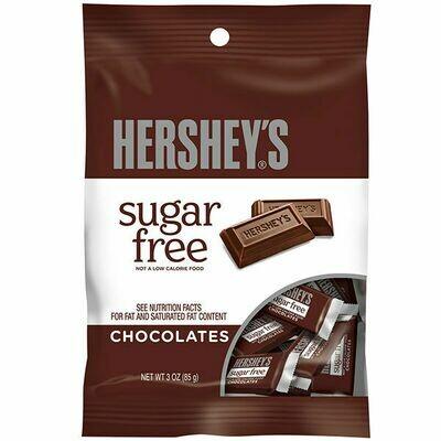 HERSHEY SUGAR FREE MILK CHOCOLATE 3oz BAG
