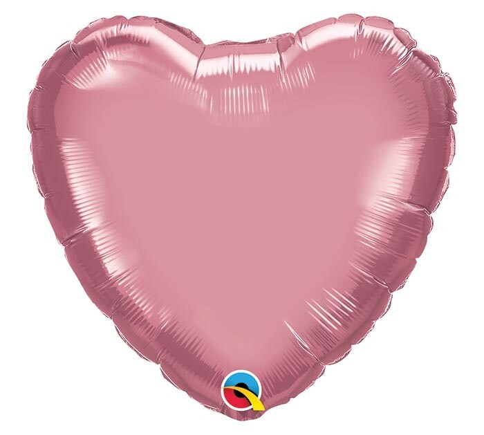 "20"" CHROME SOLID HEARTS MAUVE"