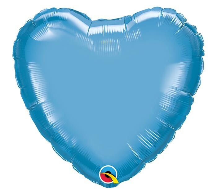 "20"" CHROME SOLID HEARTS BLUE"