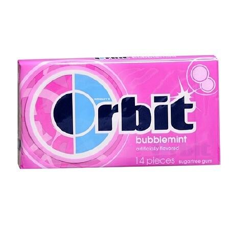 ORBIT GUM BUBBLEMINT
