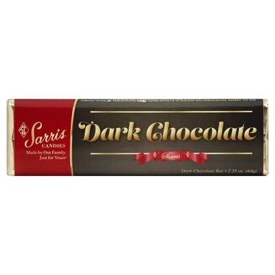 SARRIS CANDY DARK CHOCOLATE BAR