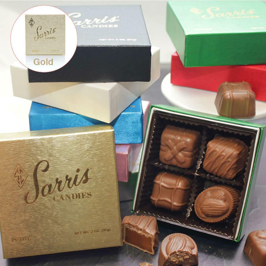 SARRIS CANDY PETITE GOLD ASST. 2OZ BOX