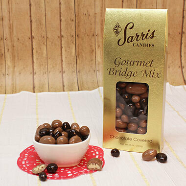 SARRIS CANDY 8OZ CHOCOLATE COVERED BRIDGE MIX